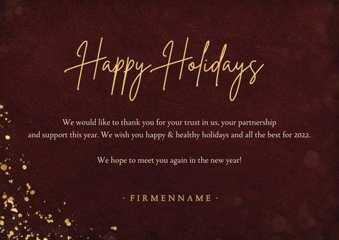 Firmen-Weihnachtskarte Papierbaum & Foto 3