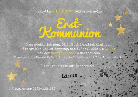 Foto-Einladung zur Kommunion cool 3