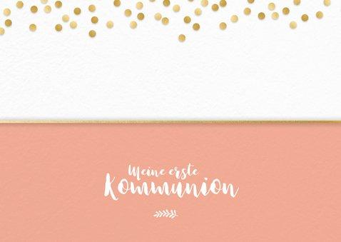 Foto-Einladung zur Kommunion Goldkonfetti 2