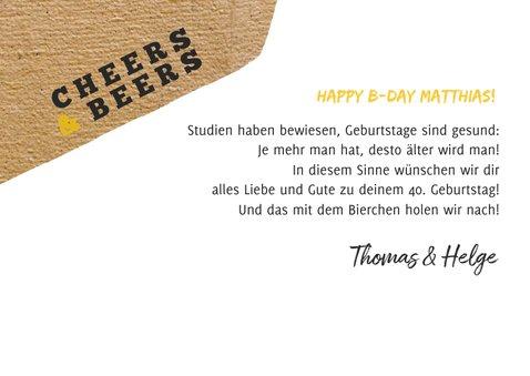 Foto-Geburtstagskarte Bierflasche 3