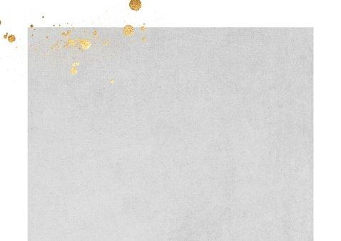 Foto kerstkaart goud spetters 2