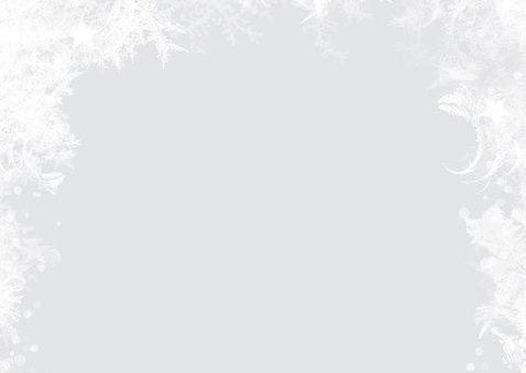 Foto kerstkaart sneeuw kader 2