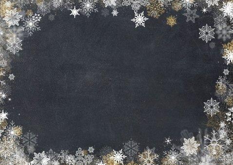 Foto op kerstkaart met sneeuwsterrenkader  2