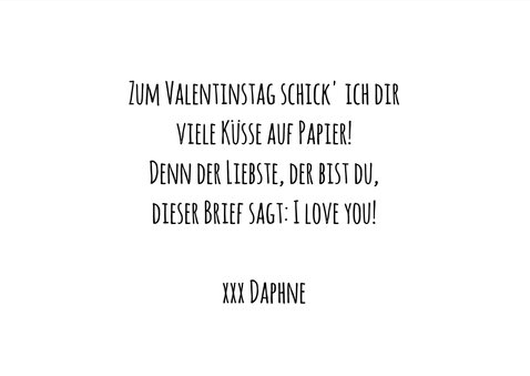 Foto-Valentinskarte 'Happy Valentine's Day' 3