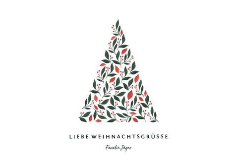 Foto-Weihnachtskarte mit grafischem Weihnachtsbaum 3