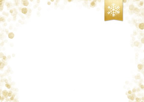 Foto-Weihnachtskarte mit Schneeflocke auf Label 2