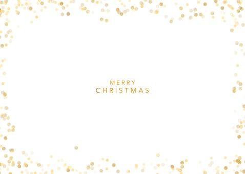 Fotocollage kerstkaart met zwart wit foto's Achterkant