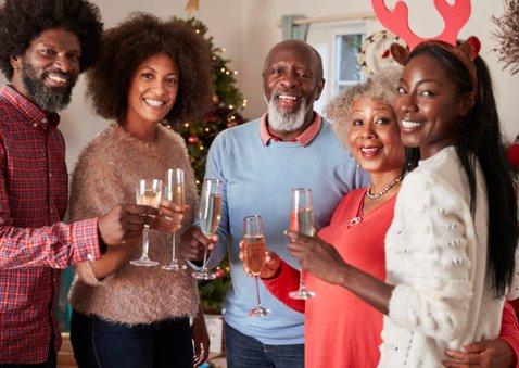 Fotocollage met 10 foto's in goud fijne kerst kerstkaart 2