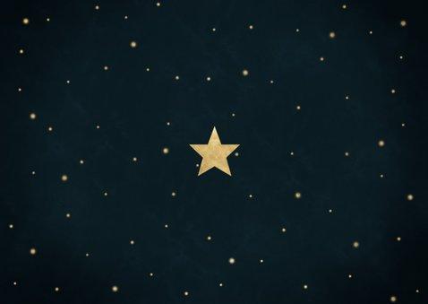 Fotocollage nieuwjaarskaart 2020 wat een jaar met sterren Achterkant