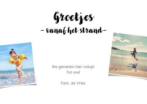 Fotocollagekaart liggend met 10 foto's en de tekst groetjes 3
