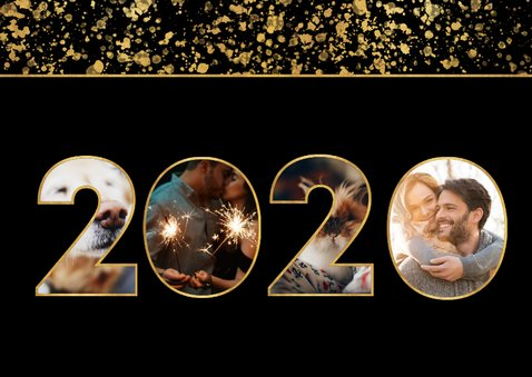 Fotokaart 2020 fotocollage spetters 2