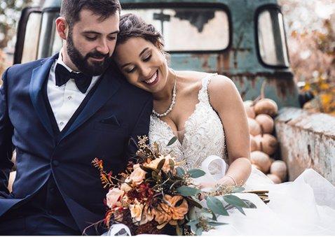 Fotokaart bedankt huwelijksdag met 2 foto's 2