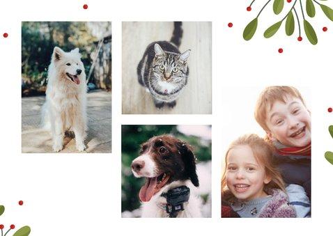 Fotokaart collage met 2 foto's takjes en besjes 2