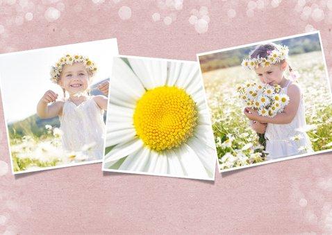 Fotokaart communie - uitnodiging communiefeest meisje 2