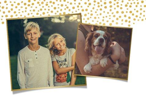 Fotokaart fijne pasen met 1 grote foto en paaseitjes 2