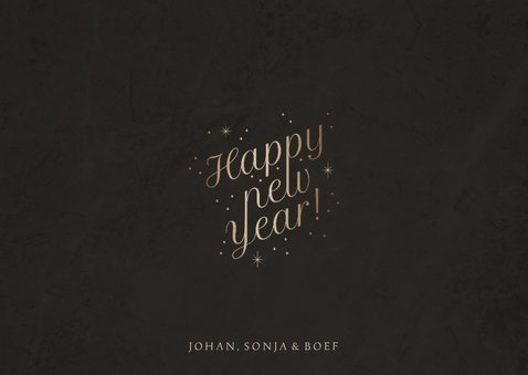 Fotokaart foto 'Happy New Year' fonkels 3