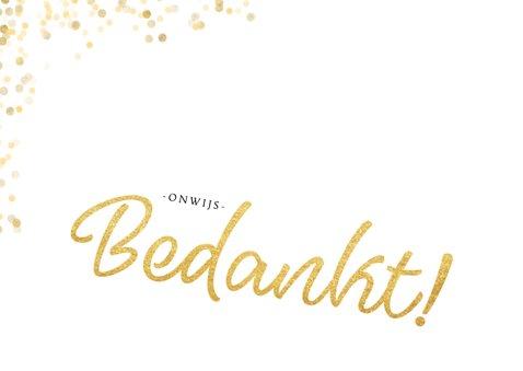 Fotokaart gouden bedankt confettI 2