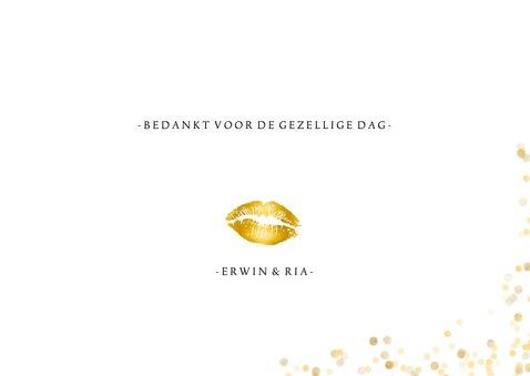 Fotokaart gouden bedankt confettI 3
