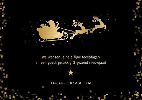 Fotokaart kerstmis - kerstkaart met rendier in goud en foto 3