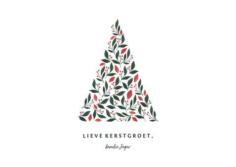 Fotokaart licht met foto en botanische kerstboom 3
