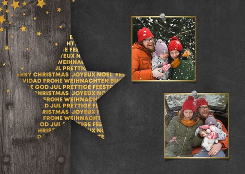 Fotokaart met 2 foto's meertalig sterren 2