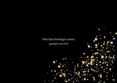 fotokaart met gouden confetti en typografie 3