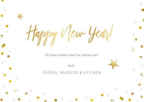 Fotokaart nieuwjaar enkele kaart met eigen foto & confetti 3