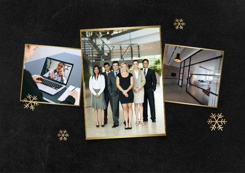 Fotokaart stijlvol goud sneeuw fotocollage 2