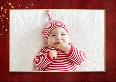 Fotokaarten fotocollage kerstkaart met gouden tekst 2