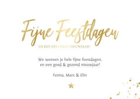 Fotokaarten fotocollage kerstkaart met gouden tekst 3