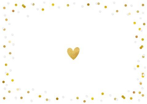 Fotokarte Einladung Wir heiraten Goldtext Rückseite