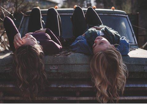 Fotokarte Freundschaft mit Herzen 2
