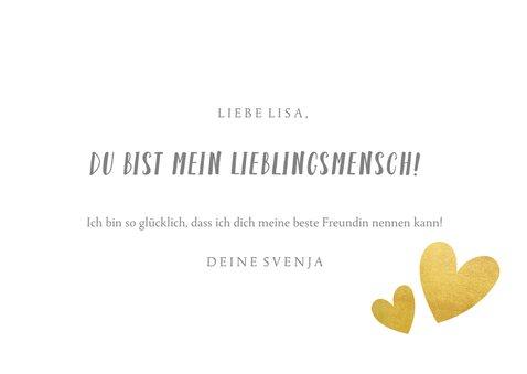 Fotokarte Freundschaft mit Herzen 3