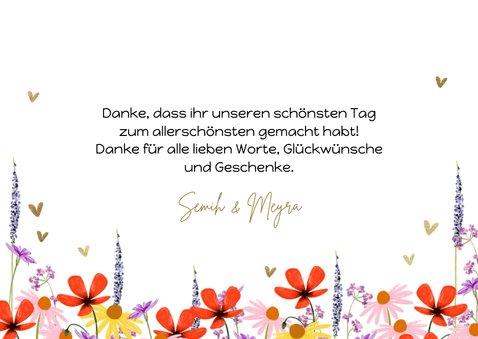 Fotokarte Hochzeit Danke Blumenwiese 3