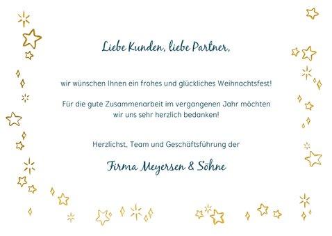 Fotoweihnachtskarte mit goldenem Rahmen 3