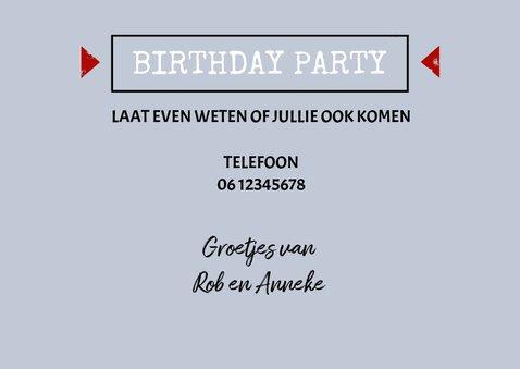 'Free Tickets For Two' uitnodiging verjaardag 3