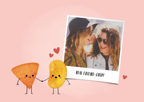 Freundschaftskarte 'friend-chip' mit Chips und Herzchen 2