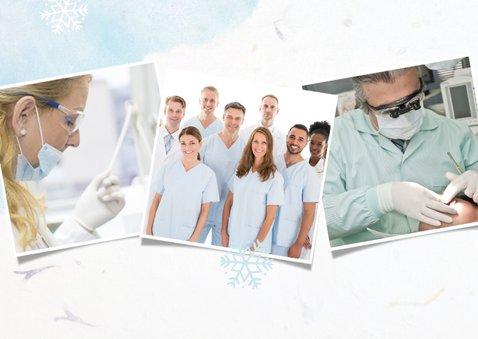 Frisse zakelijke kerstkaart voor de zorgsector met 3 foto's 2