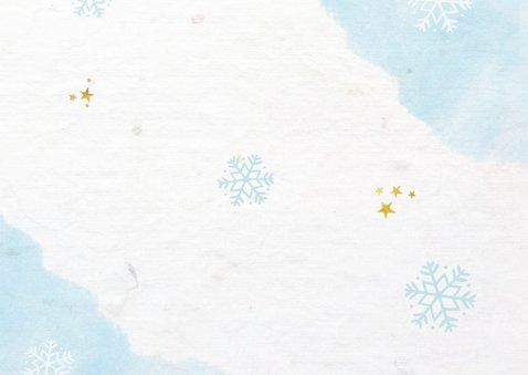 Frisse zakelijke kerstkaart voor de zorgsector met 3 foto's Achterkant