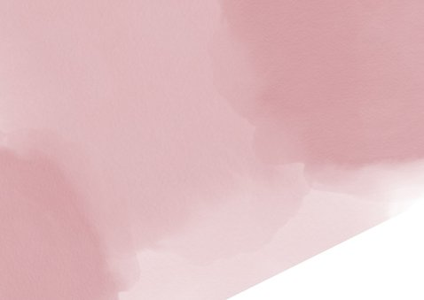 Geboorte hip en lief roze kaartje waterverf zebra en hartje 2