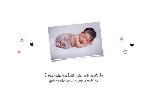 Geboortekaart - Lief baby konijntje, egeltje en kitten 2