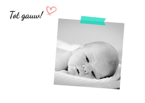 Geboortekaartje foto Jolie 3