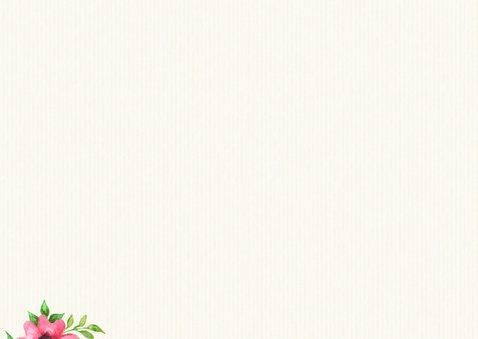 Geburtskarte Foto, Blumen & Symbole 2