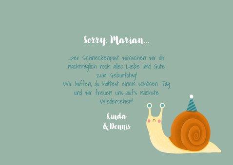Geburtstags-Glückwunschkarte Schneckenpost 3
