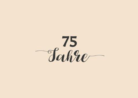 Geburtstagseinladung Gut aussehen 75 2