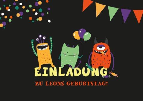 Geburtstagseinladung Kleine Monster 2
