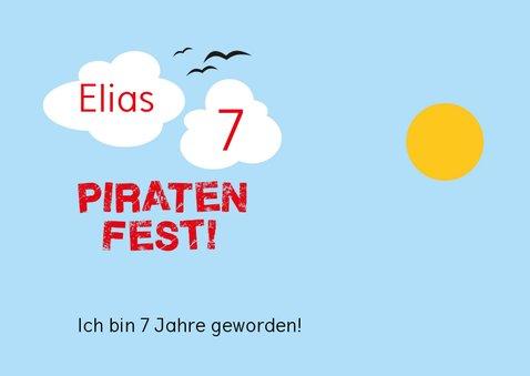 Geburtstagseinladung mit Piratenschiff 2