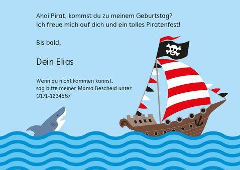 Geburtstagseinladung mit Piratenschiff 3