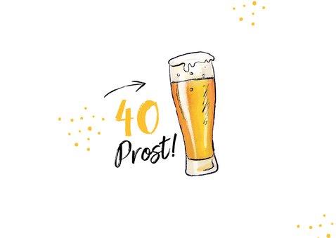 Geburtstagskarte 1,5 Meter Bier 2