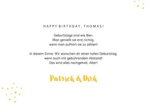 Geburtstagskarte 1,5 Meter Bier 3
